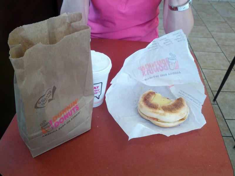 Frühstück bei Dunkin Donuts
