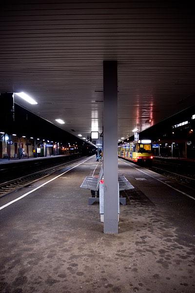 Der Bahnsteig vom Bahnhof Mühlacker