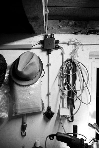 Der alte Hut meines Opas in Schwarz Weiss