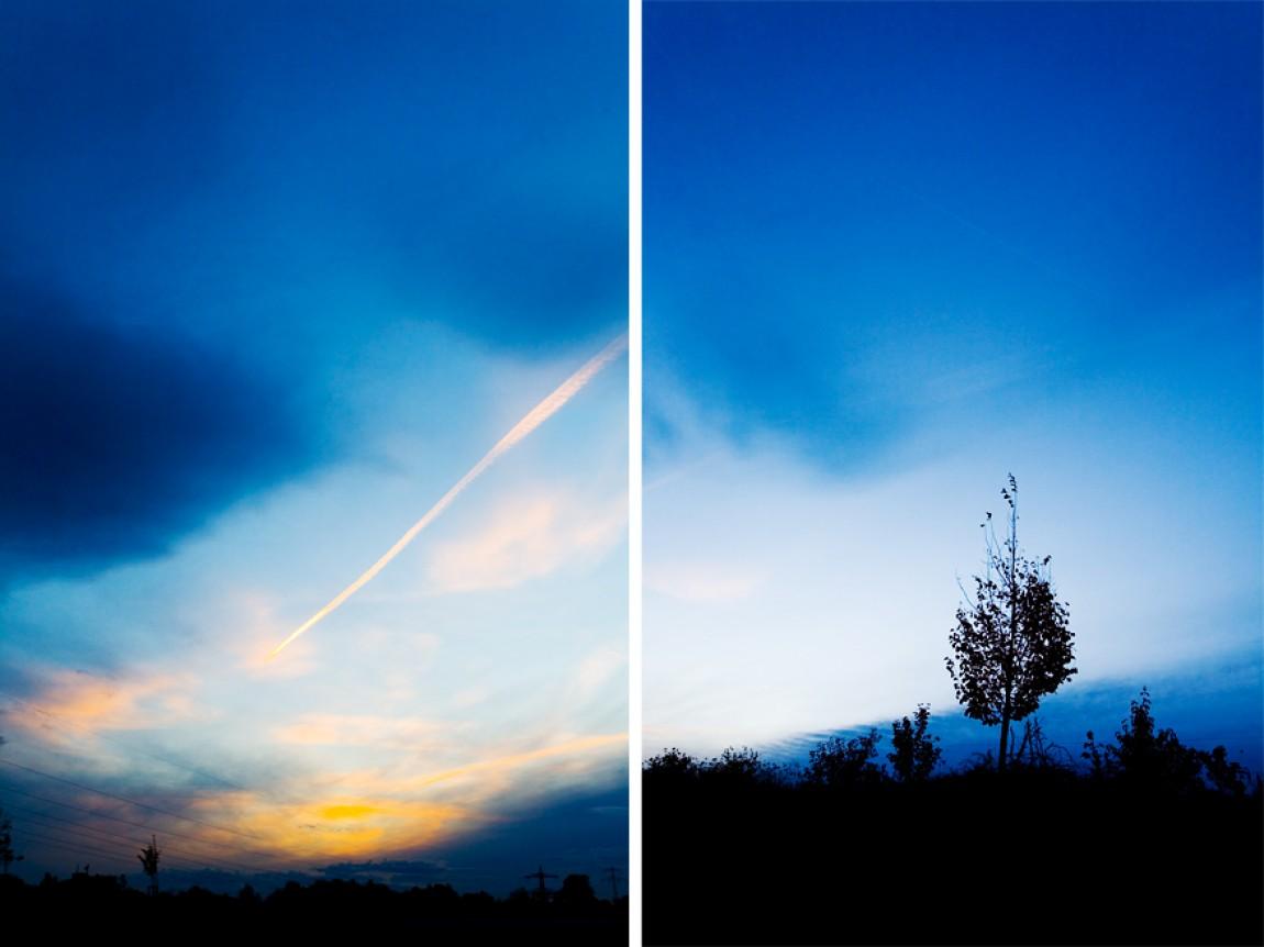 Blau/Roter Sonnenuntergang
