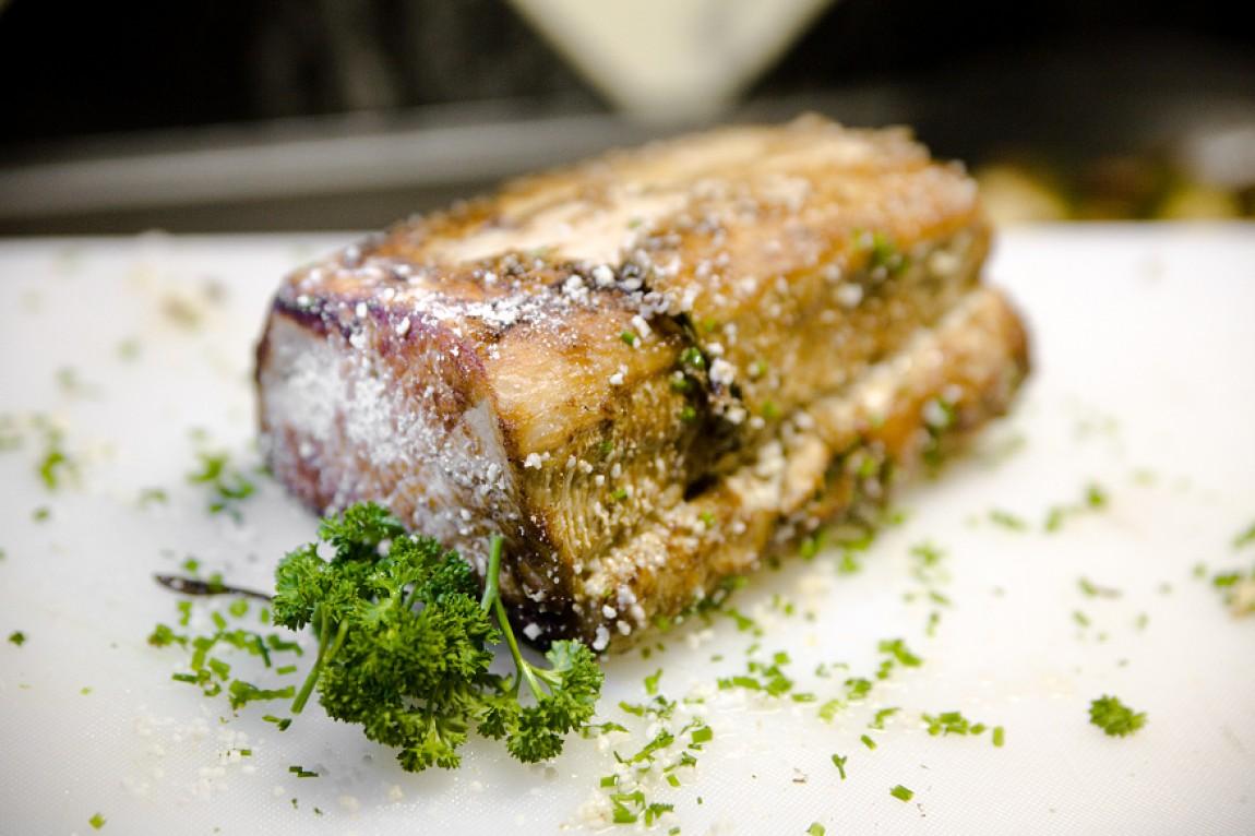 Mal wieder Kochen – Salzschwein, Knödel, Kräuterseitling und Tiramisu