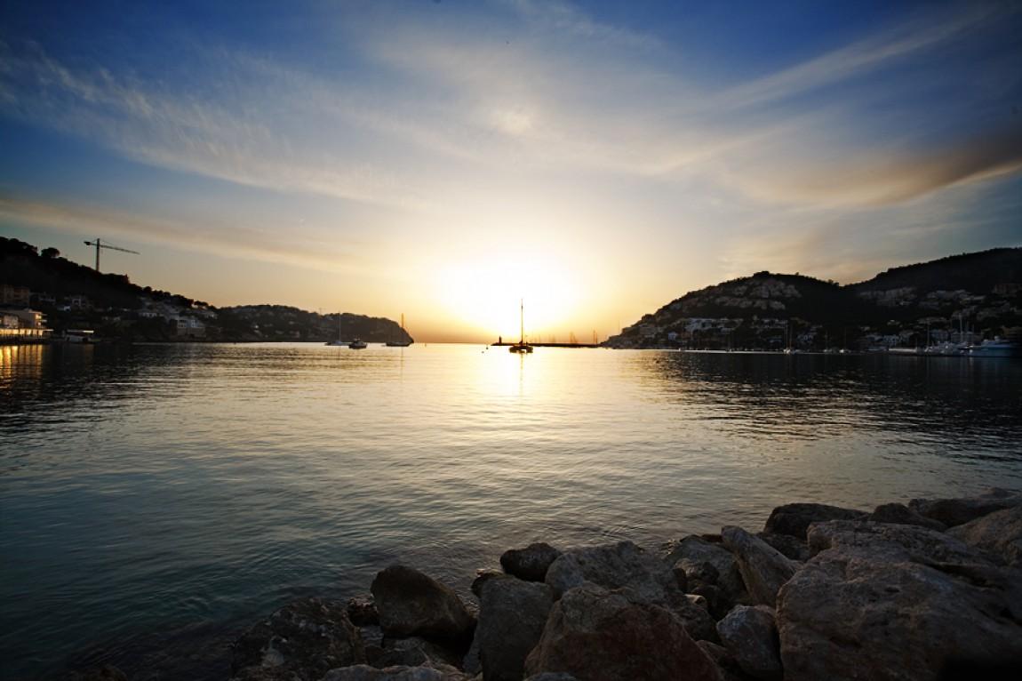 Mallorca / Andratx / Spanien Hafen – Sonnenuntergang