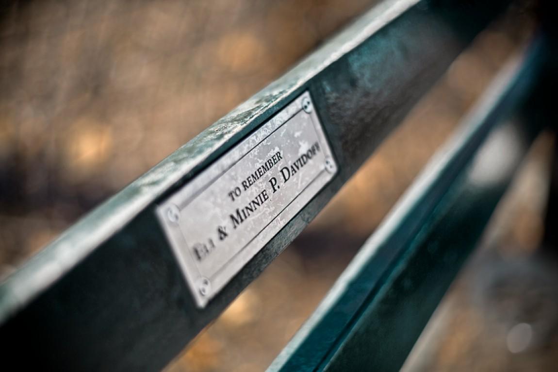 NYC: Sitzbank im Central Park