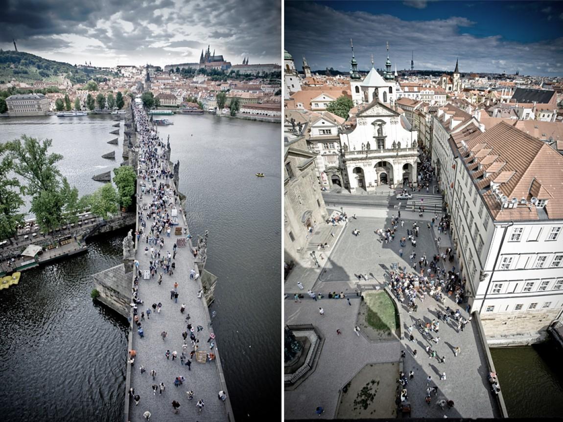 Praha – Prag – Karlsbrücke -Overview