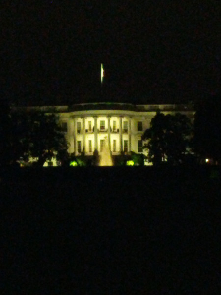 The White House bei Nacht