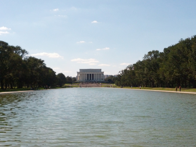 Lincoln Memorial mit Reflect Pool