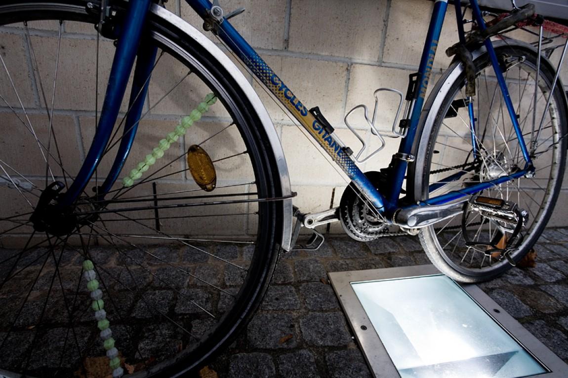 Ein Fahrrad vor unserem Büro