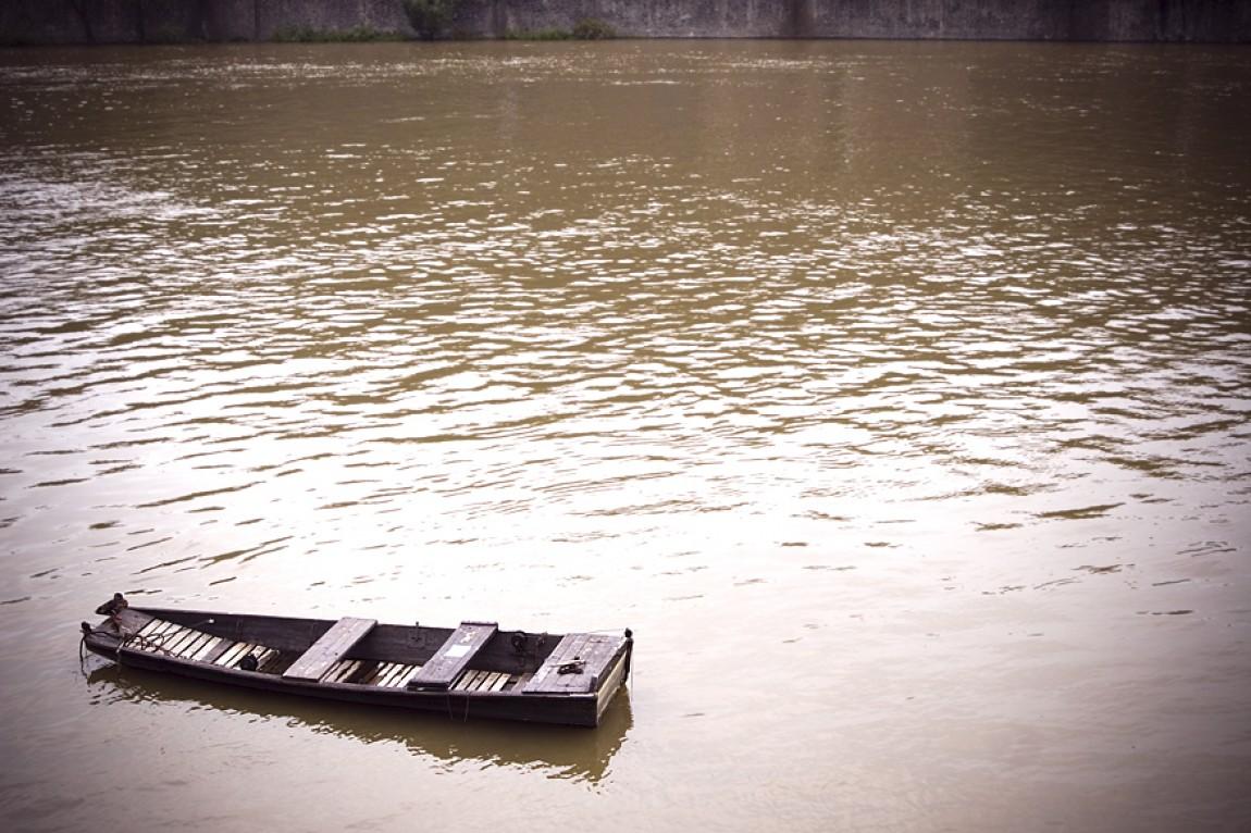 Ein Boot in Prag