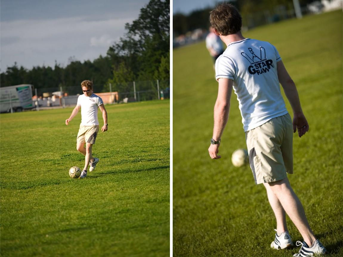 Rene beim Fussballtraining
