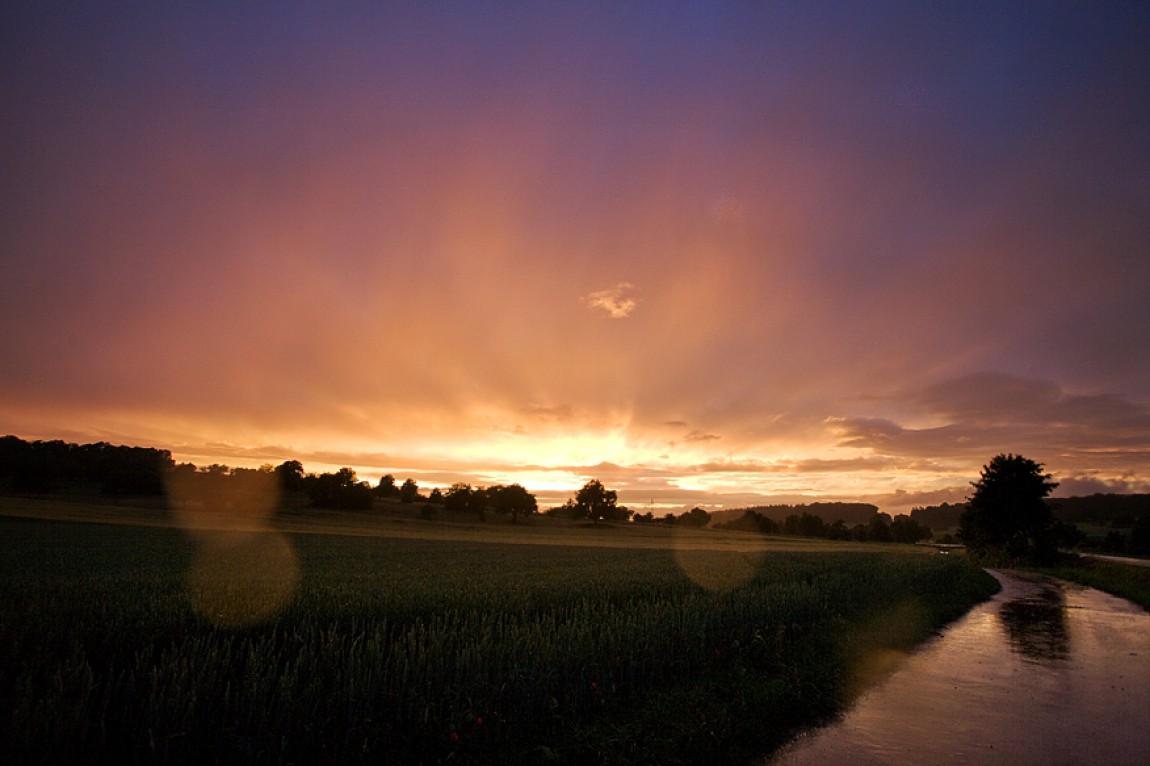 Sonnenuntergang in Eisingen 2